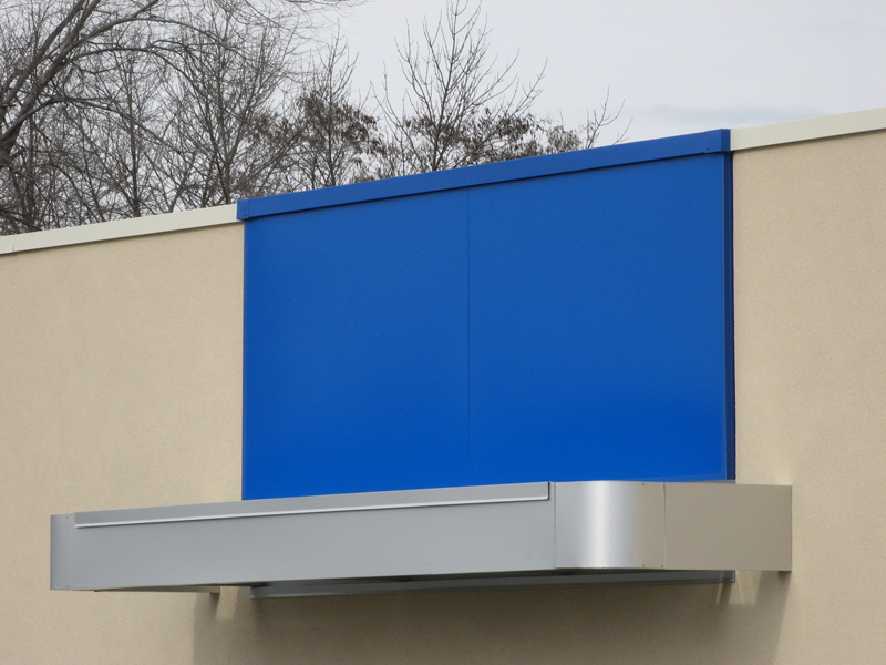blue alpolic panels