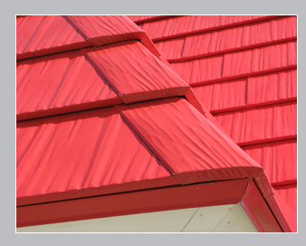 red shingle roof buildings