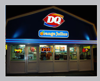 dairy queen red shingle roof building